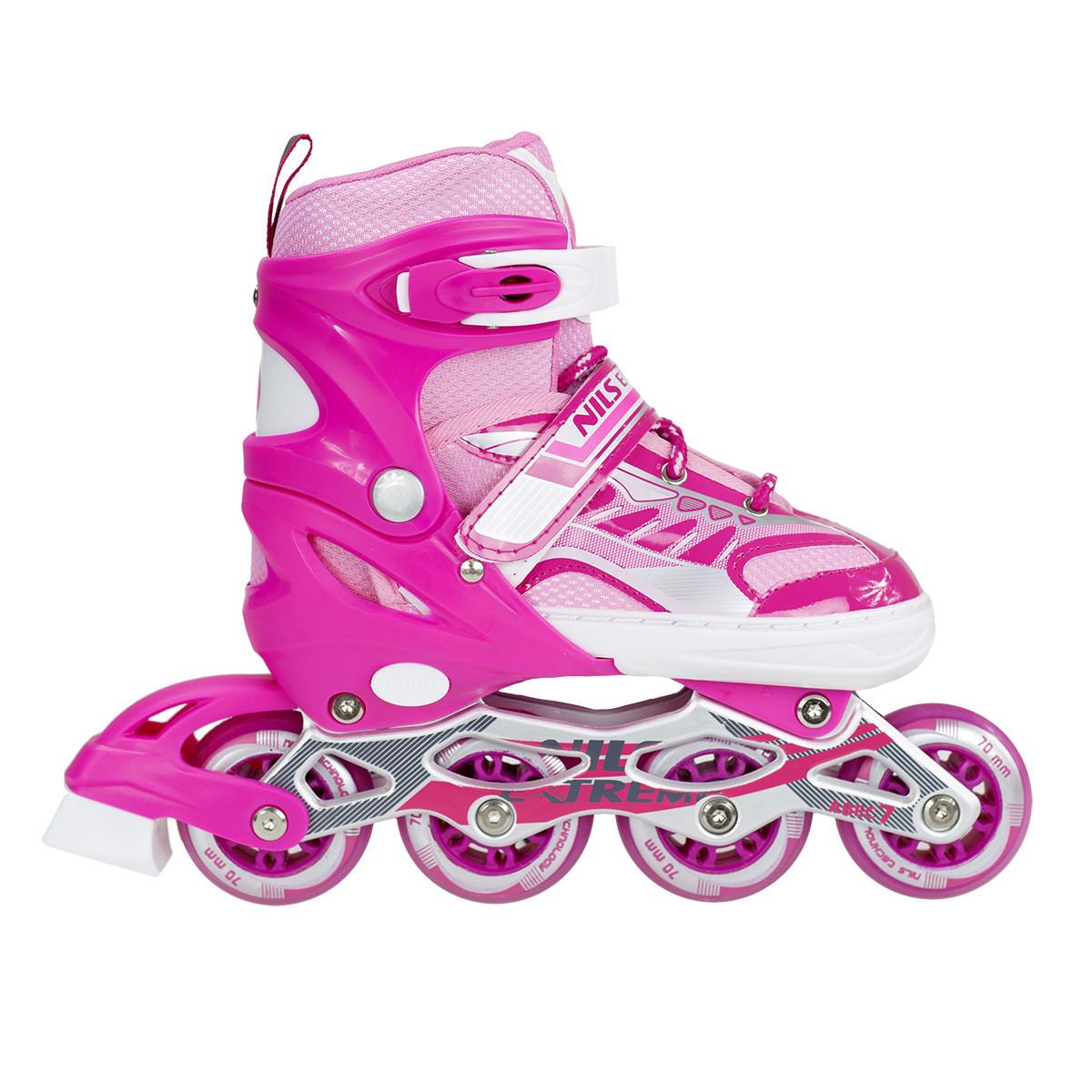 Роликові ковзани Nils Extreme NJ1828A Size 39-42 Pink