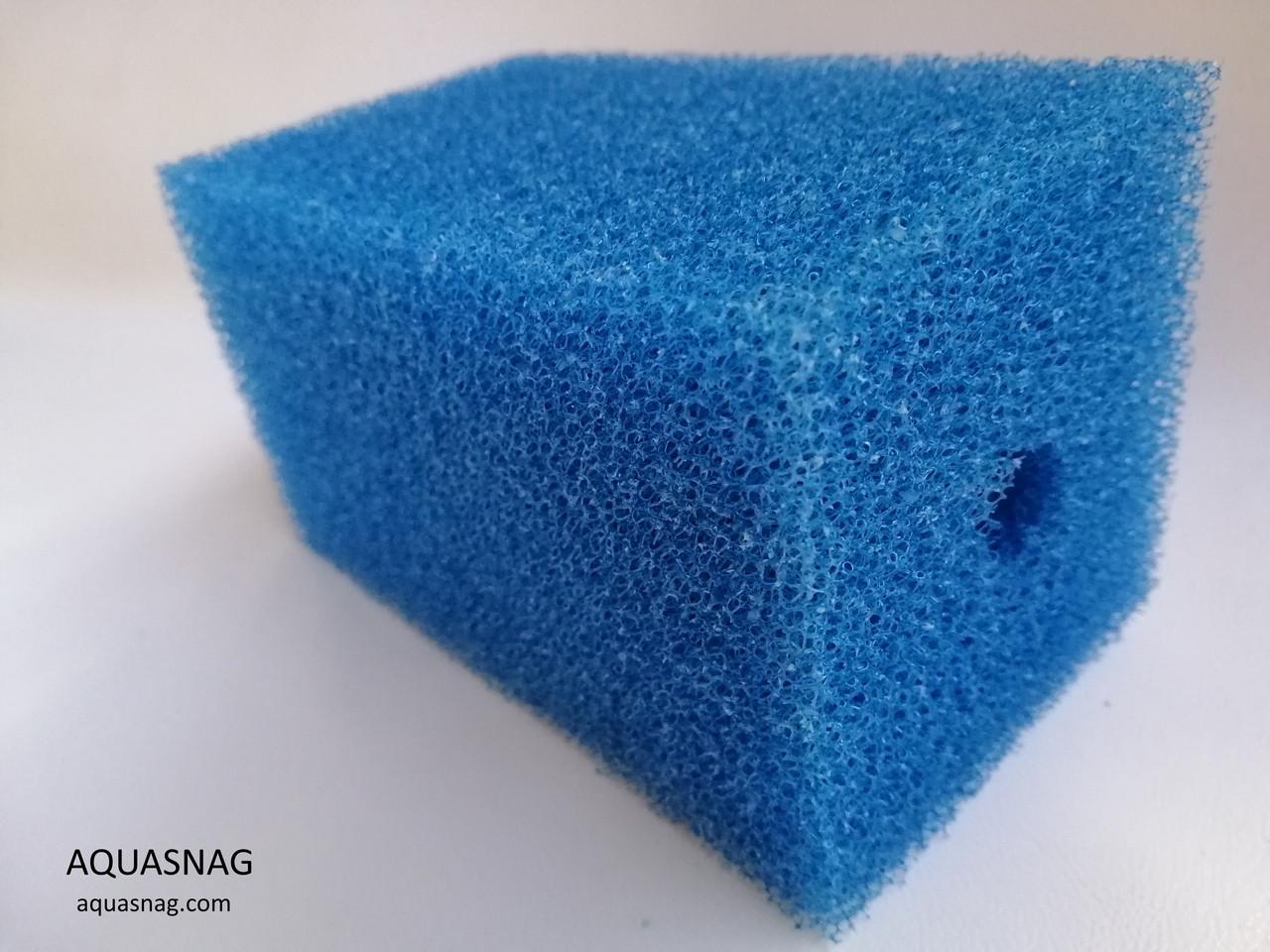 Мочалка синяя (6*6*10)см, среднепористая