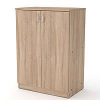 Шкаф книжный КШ-17 дуб сонома  (61х37х84 см)