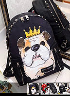 Dolce Gabbana рюкзак super lux  цветной принт собака Дольче Габбана сумка люкс качество