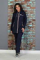 Тёплый женский спортивный костюм из трёхнити на молнии с капюшоном и карманами 48, 50, 52, 54, 56, 58