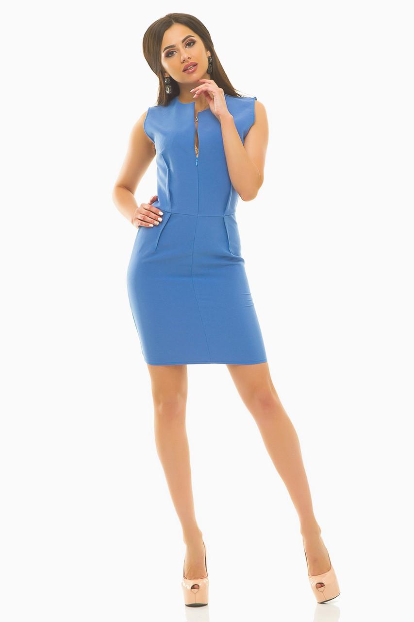 Платье 237 голубое размер 44