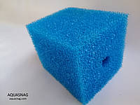 Мочалка синяя (8*8*10)см, среднепористая