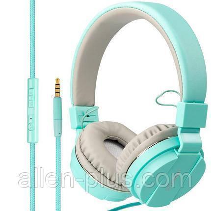 Наушники-гарнитура Gorsun GS-779 POP Dynamic Solid Bass, blue. (микрофон, рег. громкости) ОРИГИНАЛ !