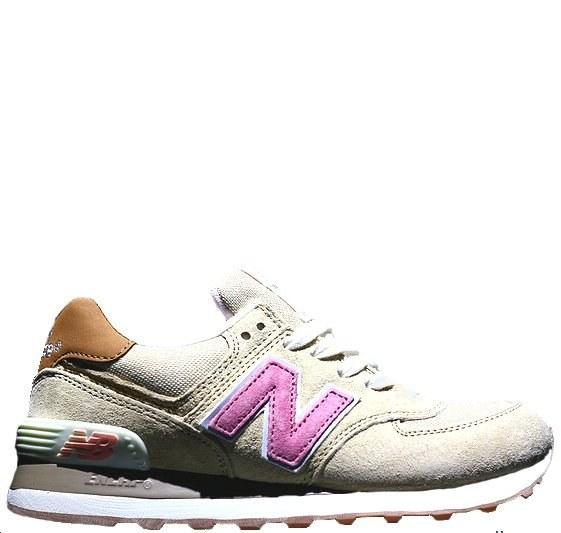 Оригинальные кроссовки женские New Balance 574 Tan/Pink