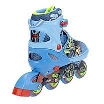 Роликовые коньки Nils Extreme NJ4605A Size 34-37 Blue, фото 3