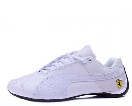 Оригинальные кроссовки мужские Puma Ferrari Low All White