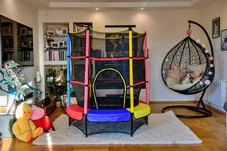 Батут 140 см для дома и улицы Just Fun мультиколор, фото 2