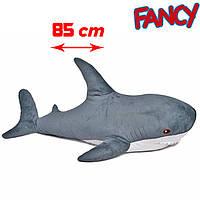 Мягкая игрушка акула, бело серая (AKL3), (Аналог Блохэй-ИКЕА), FANCY