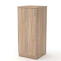 Шкаф книжный КШ-18 дуб сонома  (36х37х84 см)