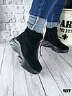 Женские зимние черные ботинки, из натуральной замши 38 40 ПОСЛЕДНИЕ РАЗМЕРЫ, фото 2