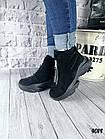 Женские зимние черные ботинки, из натуральной замши 38 40 ПОСЛЕДНИЕ РАЗМЕРЫ, фото 3