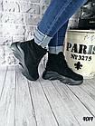 Женские зимние черные ботинки, из натуральной замши 38 40 ПОСЛЕДНИЕ РАЗМЕРЫ, фото 4