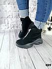 Женские зимние черные ботинки, из натуральной замши 38 40 ПОСЛЕДНИЕ РАЗМЕРЫ, фото 5