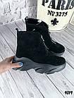 Женские зимние черные ботинки, из натуральной замши 38 40 ПОСЛЕДНИЕ РАЗМЕРЫ, фото 6