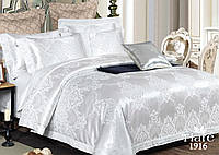 Комплект постельного белья Вилюта (Viluta) сатин жаккард Tiare белый двуспальный евро