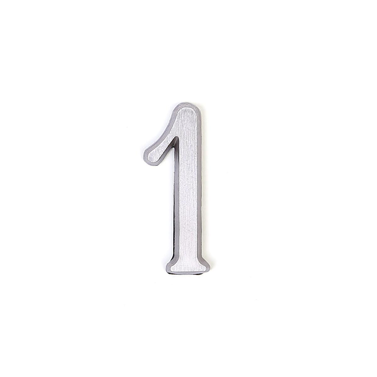 Номер из латуни на дверь Larvij цифра 1 никель (LNB5 BLN#1)