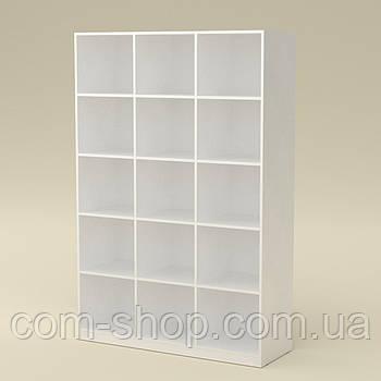Шкаф книжный КШ-3 белый  (130х45х195 см)