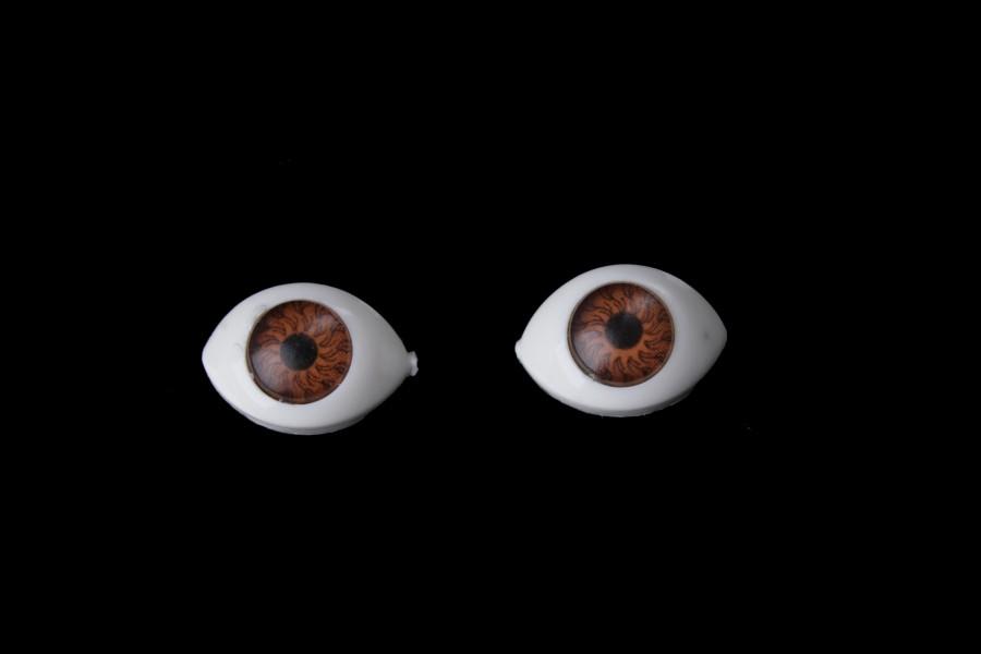 Глазки для игрушек (коричневые)