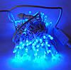 Гирлянда уличная Нить, 120 led, синяя, белый провод, 9м., фото 2