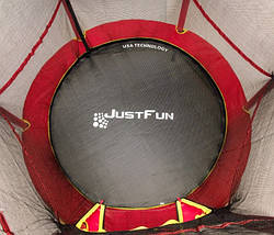 Батут  Just Fun 140 см для дома и улицы красный, фото 2