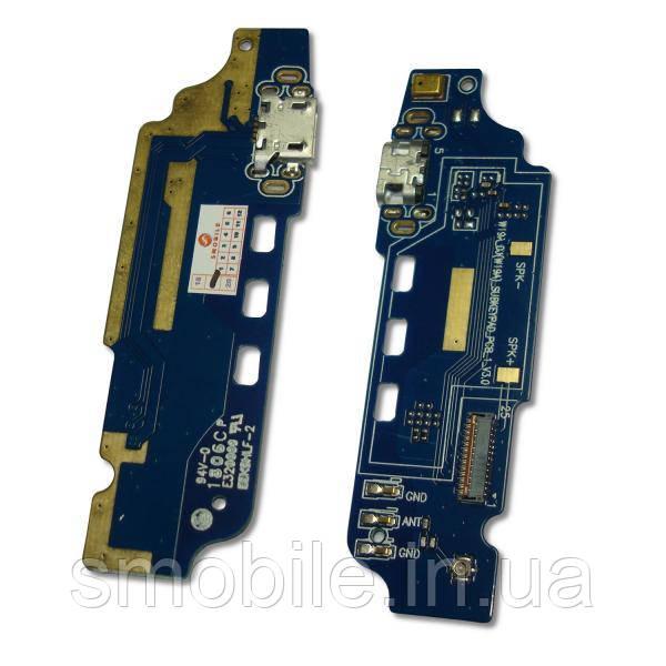 ZTE Разъем зарядки ZTE Blade L5 Plus на плате + микрофон и компоненты (оригинал Китай)