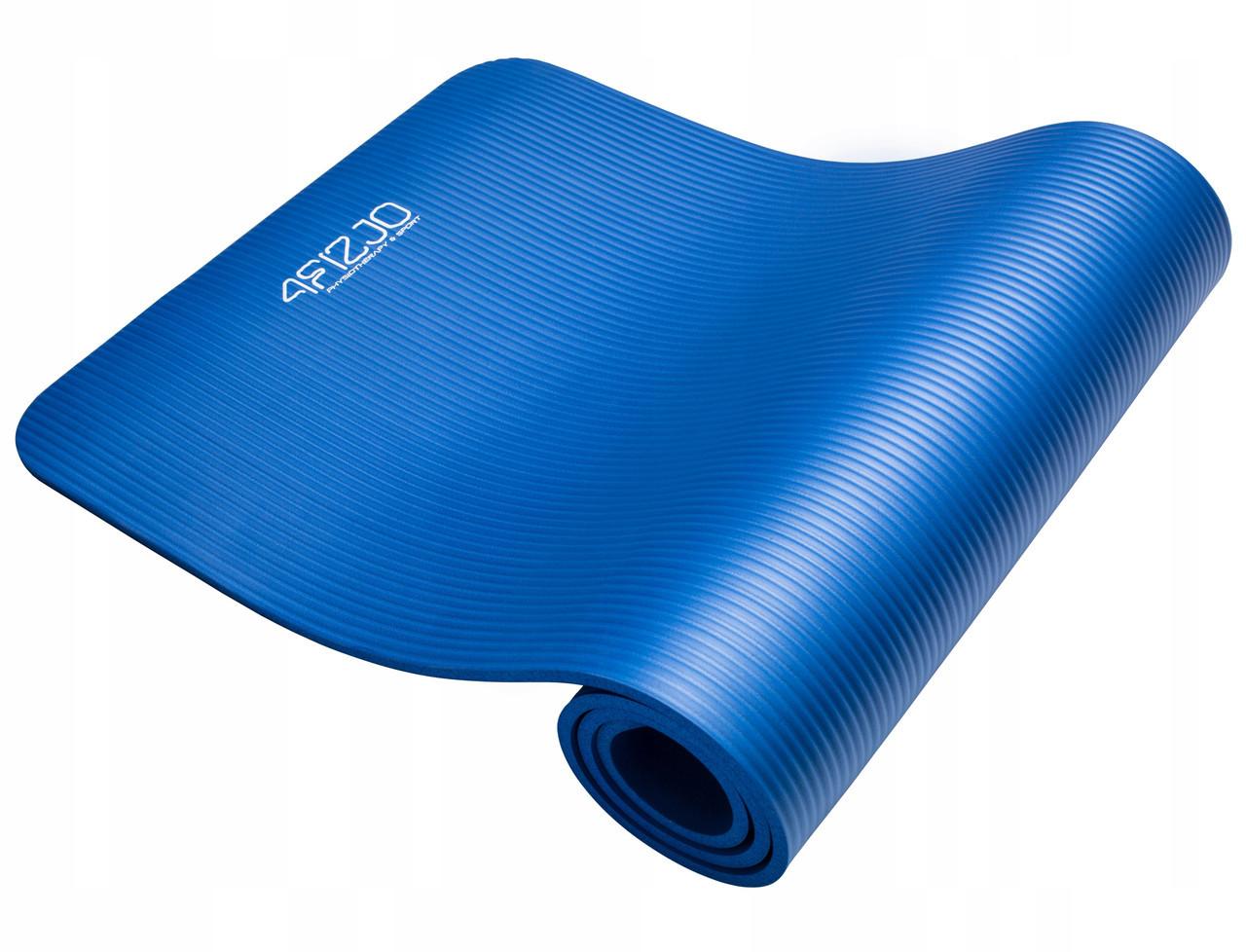 Килимок (мат) для йоги та фітнесу 4FIZJO NBR 1 см 4FJ0014 Blue