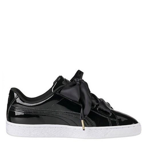 Оригинальные кроссовки женские Puma Suede Heart Patent Black