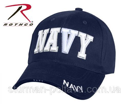 Бейсболка мужская   морская  Rotcho   NAVY BLUE - ''NAVY''  цвет темно синий  США