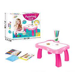 Мольберт столик детский для рисования YM001-002