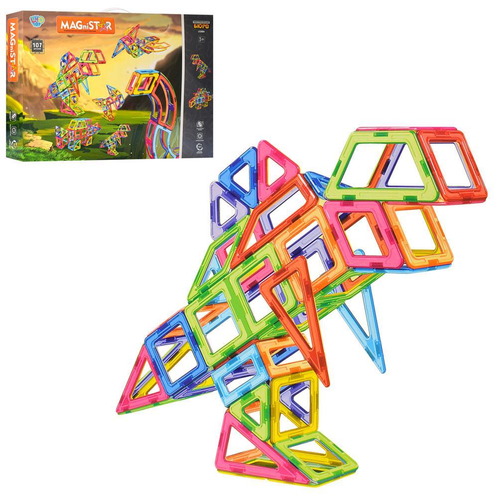"""Магнітний конструктор MagniStar """"Динозаври"""" (106 деталей) арт. 2004"""