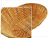 Корзина плетенная овальная 180*130*65мм, светло-коричневая, фото 3