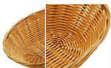 Корзина плетенная овальная 180*130*65мм, светло-коричневая, фото 4