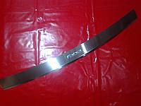Накладка на задний бампер с загибом Skoda Fabia 2007-2014