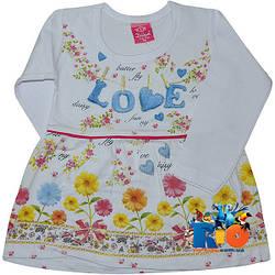 """Детское трикотажное платье """"Lovely Flowers""""  для девочек от 1-4 лет (рост 98-116 см)"""