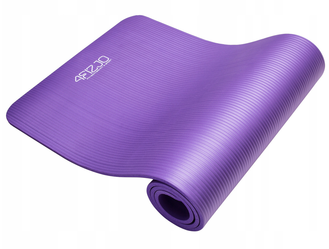 Коврик (мат) для йоги и фитнеса 4FIZJO NBR 1 см 4FJ0016 Violet