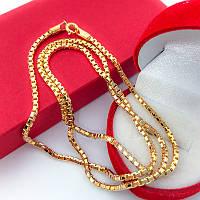 Цепочка Венецианское плетение 60 см ( медицинское золото) (6896)