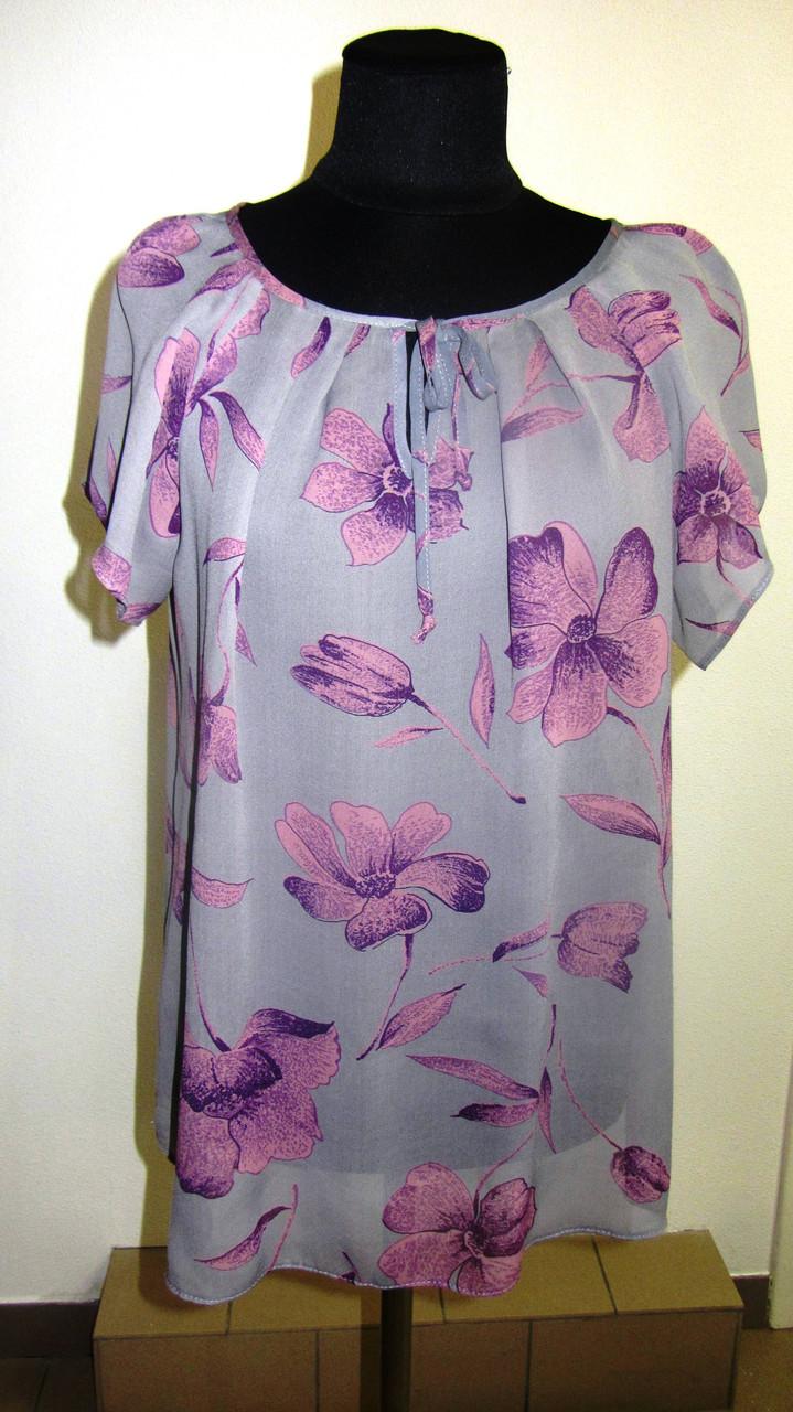 Купить женские блузы ,сирень крепдышин,100% вискоза , 50,52,54,56, БЛ 037-17.