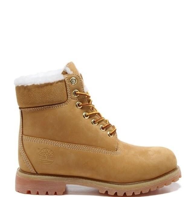 Оригинальные ботинки женские Classic Timberland 6 inch Yellow Winter Edition
