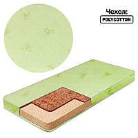 Матрас поролон - поликотон Малютка3 Bamboo - цвет салатовый 1 - ТМ Алекс - 180693