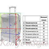 Комплект чемодан и кейс Bonro 2019 маленький  темно-синий (10501004), фото 9