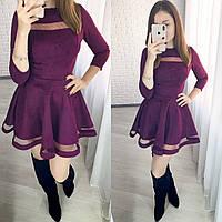 Платье / замш на дайвинге, сетка / Украина 26-033, фото 1