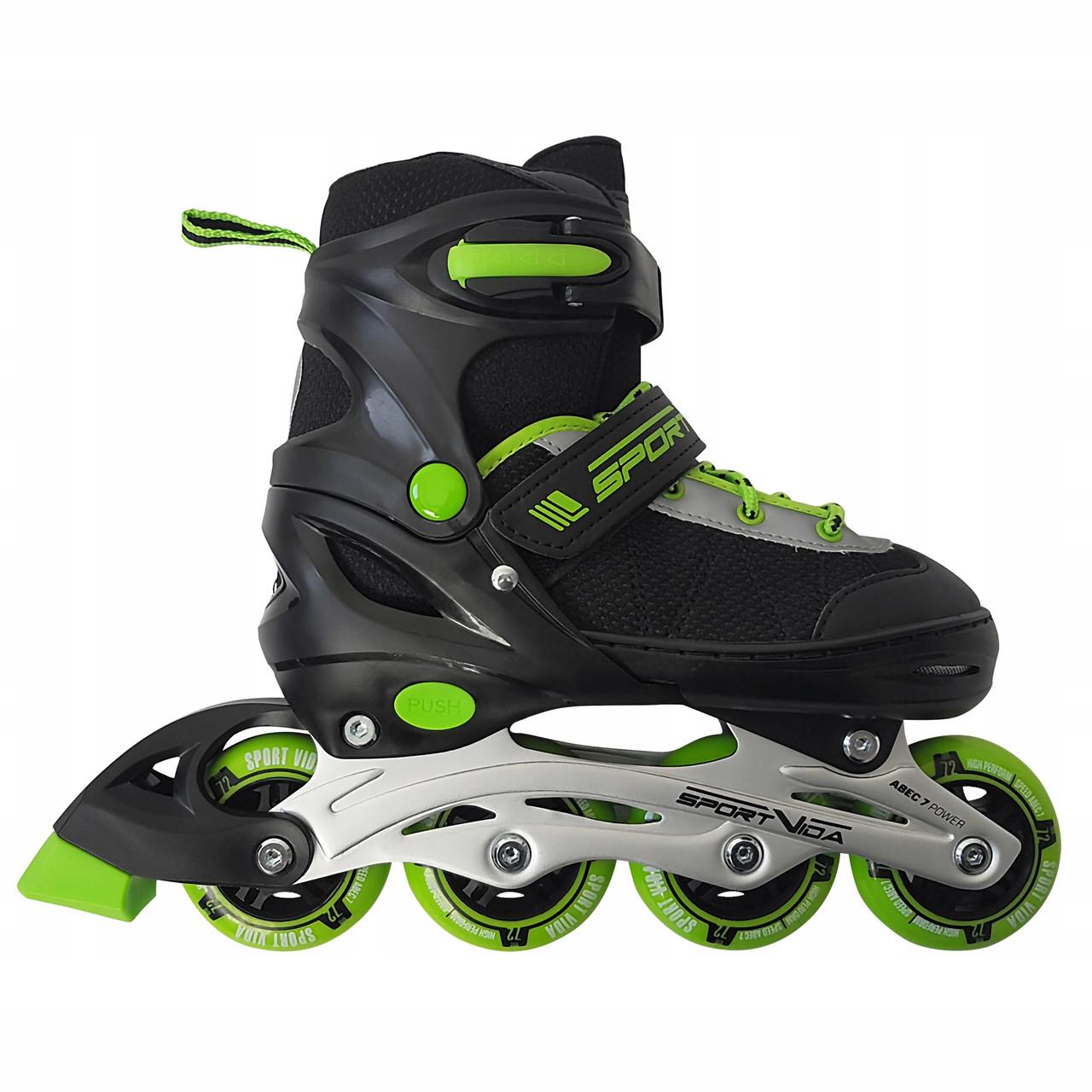 Роликовые коньки SportVida SV-UP0001 Size 34-37 Black/Green