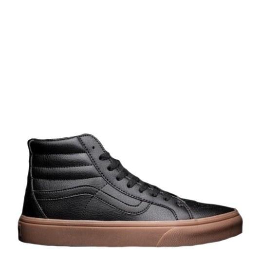 Оригинальные кеды мужские Vans Gum Leather Sk8-Hi Classic Black