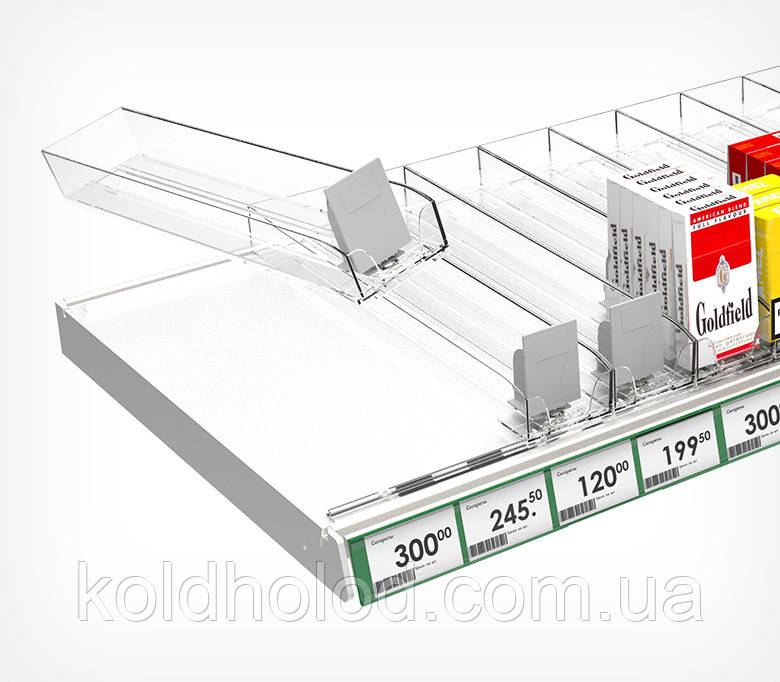 Лоток для сигарет с толкателем 285 мм пластиковый