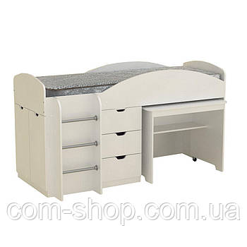 Кровать Универсал белый  (194х89х106 см)