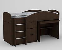 Кровать Универсал венге  (194х89х106 см)