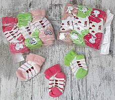 Детские махровые носки для новорожденных 0-6 мес Турция оптом