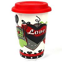 Кружка с силиконовой крышкой в подарочной упаковке Love A-007_3 - 203755