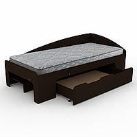 Кровать 90+1 венге темный  (95х204х70 см)
